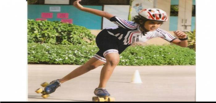 Shruti Kulkarni - National Gold Medal awarded (skating)2013 - Vimala Goenka English Medium School