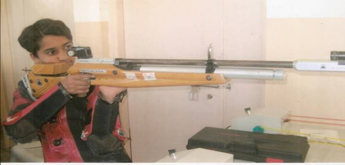 Anusha Patil (Rifle Shooting) Gold Medal awarded 2013 - Vimala Goenka English Medium School