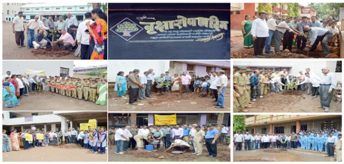 1st July 2016, Celebrated Tree Plantation Day at NES Schools campus NES Management and Staff)
